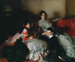 'Essie, Ruby and Ferdinand, Children of Asher Wertheimer' by John Singer Sargent, 1902