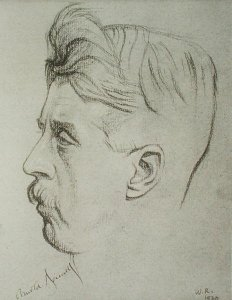 'Arnold Bennett' by William Rothenstein