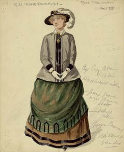 "Irene Vanburgh in 'Trelawny of the ""Wells""', costume notes."
