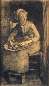 'Girl Peeling Onions' by Elizabeth Forbes
