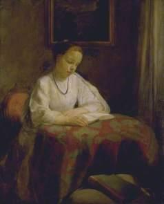 'Interior, Gilr Reading' by Mary McEvoy, 1901