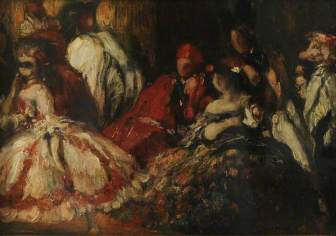 'A Fancy Dress Dinner Party' by Charles Ricketts, c.1904