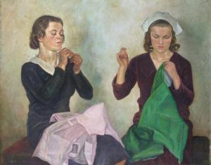'Sheffield Seamstresses' by William Rothenstein, c.1917