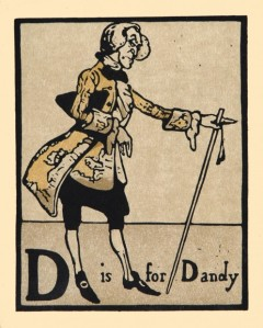 'D is for Dandy', William Nicholson, 1898