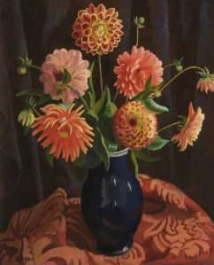 Adrian Allinson, 'Dahlias' (Salford)