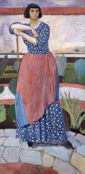 'Dorelia McNeill in the Garden at Alderney manor' by Augustus John, 1911 (National Museum, Wales)