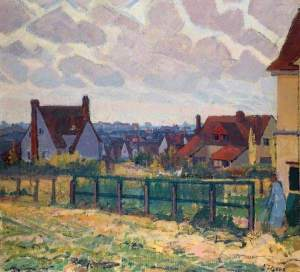 'The Garden City, Letchworth', by Spencer Gore, 1913 (First Garden City Heritage Museum)