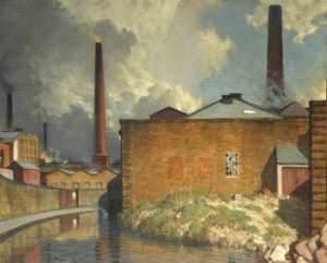 'The Yellow Wall, Blackburn,' Charles Holmes