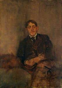 'Self-Portrait' by Charles Conder (Tullie House) [Charles Conder is one of several artists mentioned in 'The Glimpse']