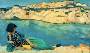 The Blue Pool, 1911 (oil on panel), John, Augustus Edwin (1878-1961) © The estate of Augustus John. Aberdeen Art Gallery and Museum, Scotland / Bridgeman Images.