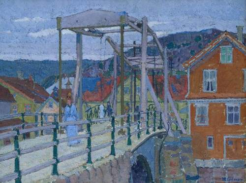 Gilman, Harold, 1876-1919; Canal Bridge, Flekkefjord